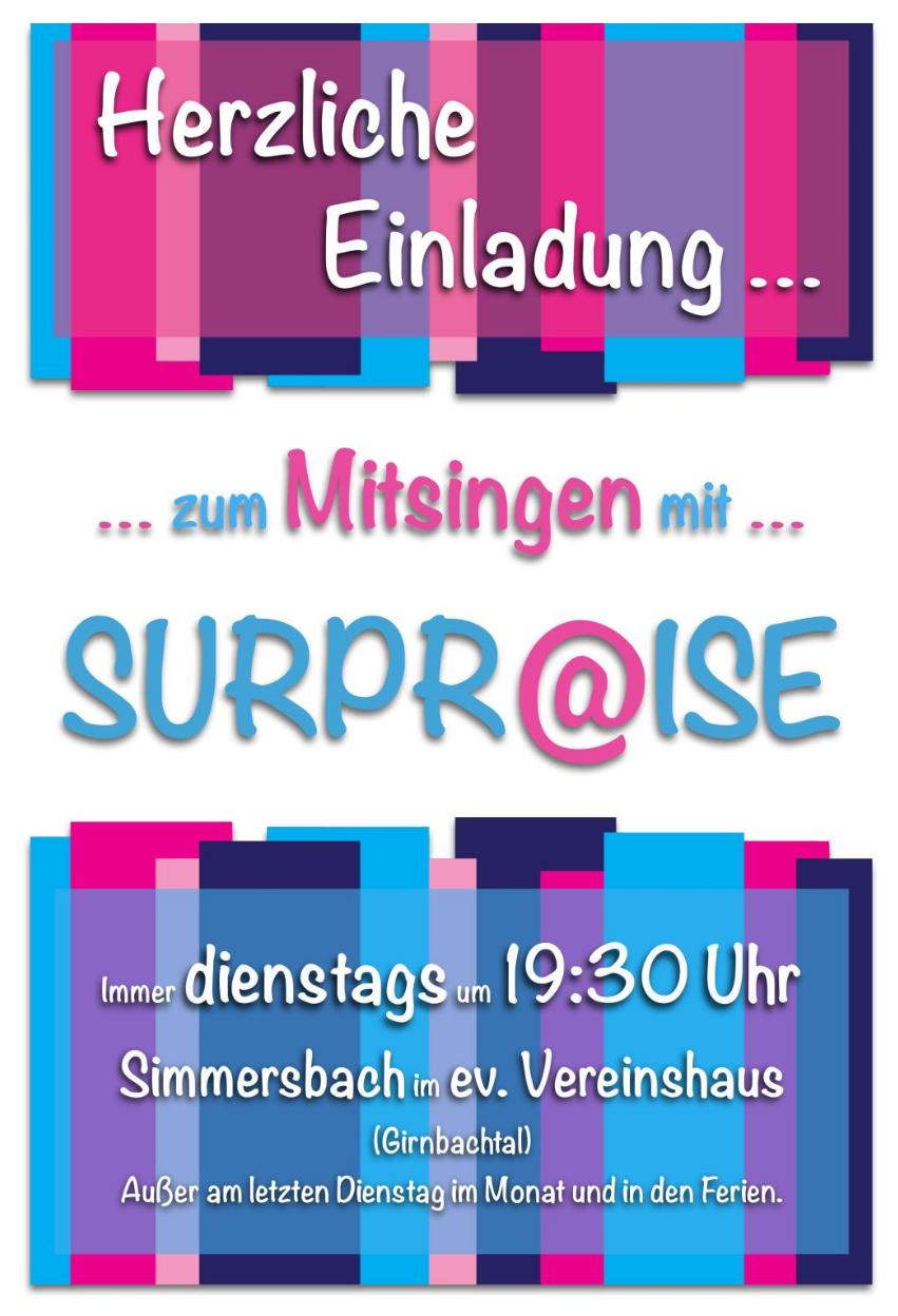 "Chor ""SURPR@ISE"" @ Ev. Vereinshaus Simmersbach"